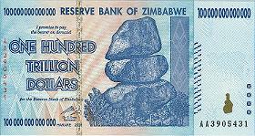 Zimbabwe 1T Note