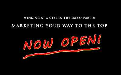 Winking at a Girl in the Dark- Part 2: Marketing Your Way to the Top- Now Open