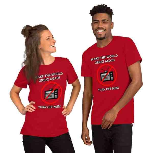 Make America Great Again Turn off MSM tshirt