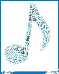 nube de palabras música, marketing y redes sociales usada en mi blog personal