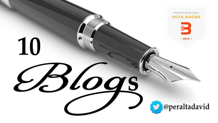 Mis 10 blogs favoritos para votar en los premios Bitácoras 2015