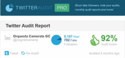 -ocgrancanaria s Audit Twitter Audit Audit your Twitter followers.