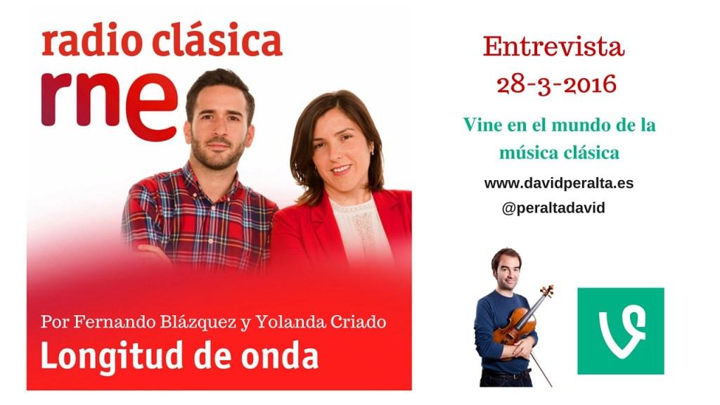 Vine en la música: entrevista en el programa de Radio Clásica ¨Longitud de Onda¨