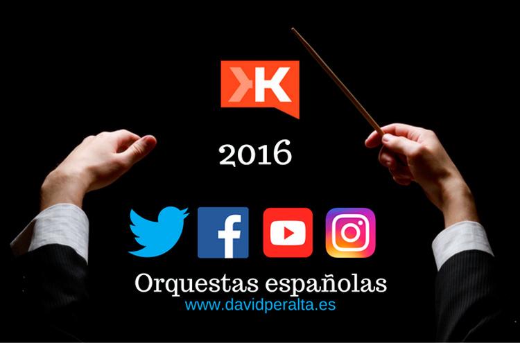 Influencia en redes sociales orquestas españolas en el 2016 [Infografía + vídeo]