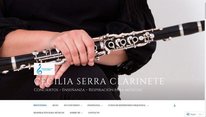 Cecilia Serra, clarinete