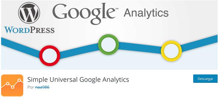 Simple Universal Google Analytics plugin