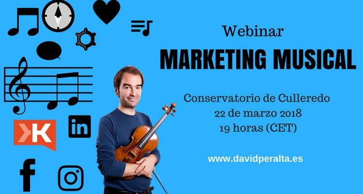 Conservatorio de Culleredo: webinar sobre marketing en redes sociales para músicos