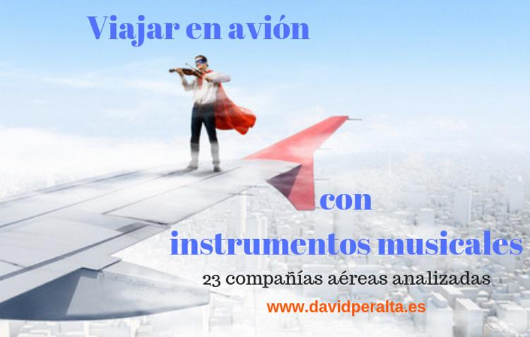 viajar en avión con instrumentos musicales