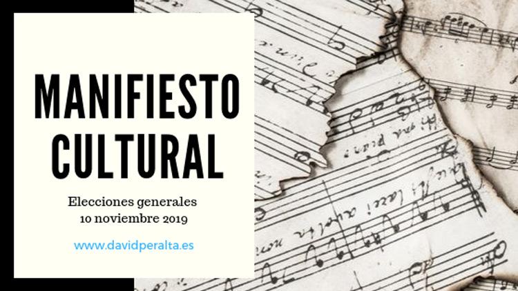 Manifiesto por la cultura de David Peralta Alegre