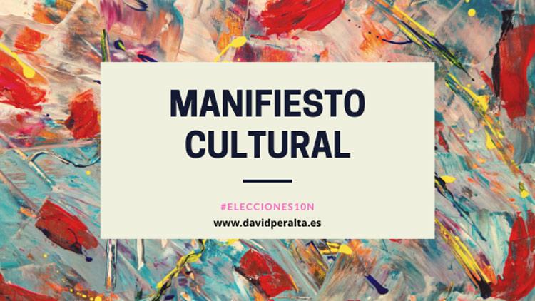 manifiesto cultural elecciones 10 noviembre 2019