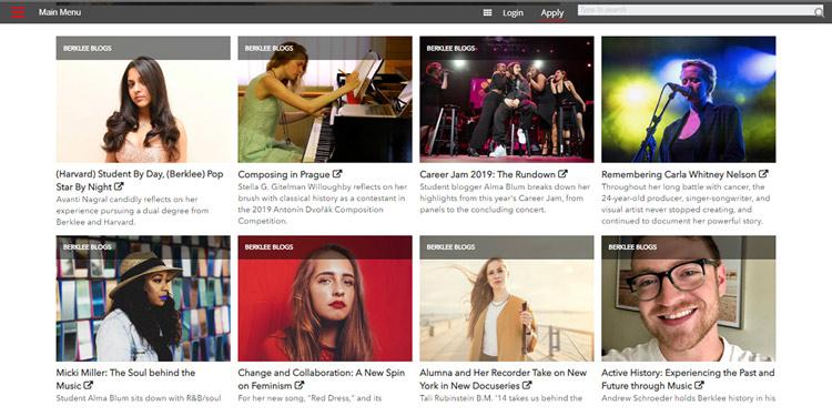 Blog de la escuela de música americana de Berklee