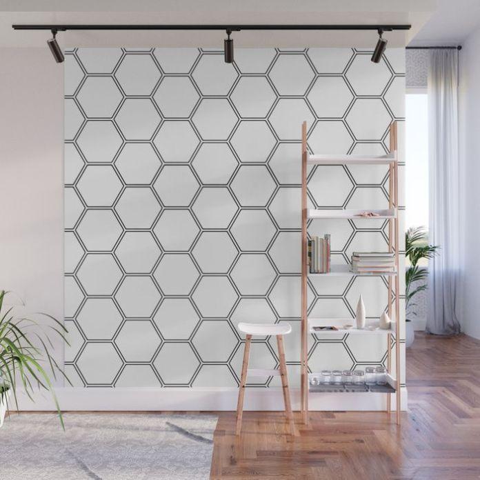 Honeycomb pattern wall paint