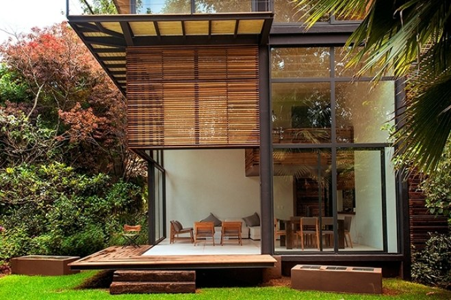 contemporary wooden house