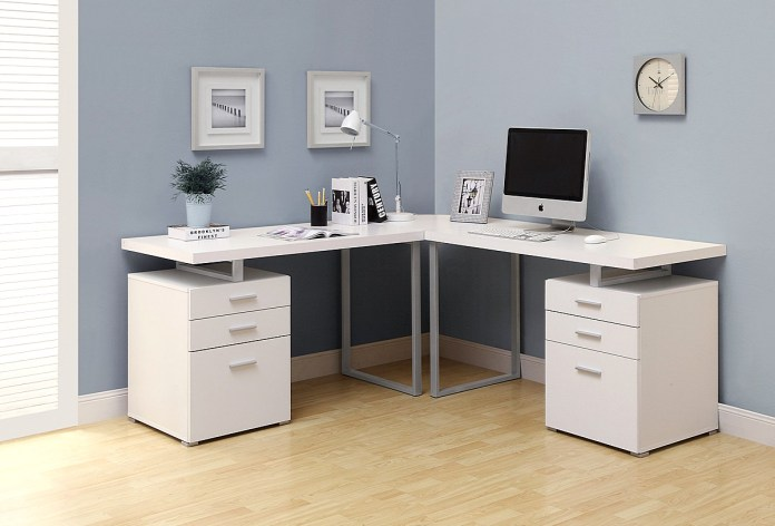 Desk Design for Workspace Corner
