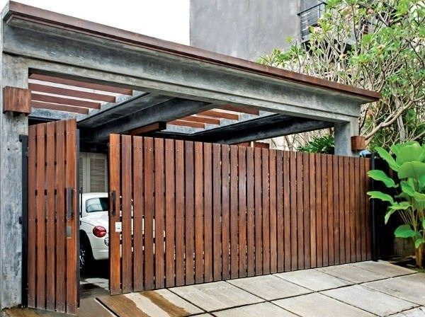 Natural Wooden Gate