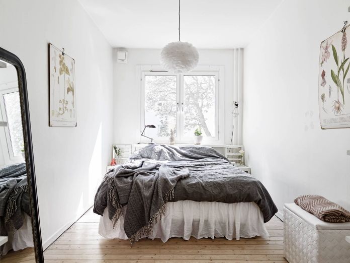 Scandinavian Style Bedroom with Large Window
