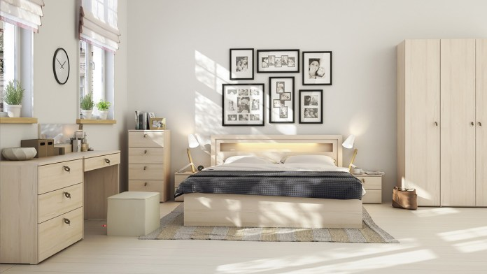 Using Wood Materials in a Scandinavian Interior Style Bedroom