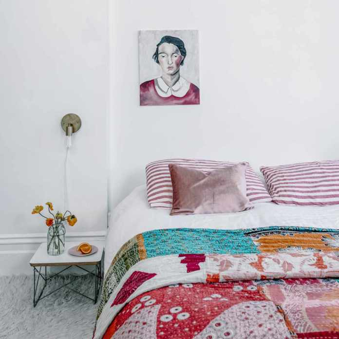 Bohemian Bedroom With Beautiful Painting