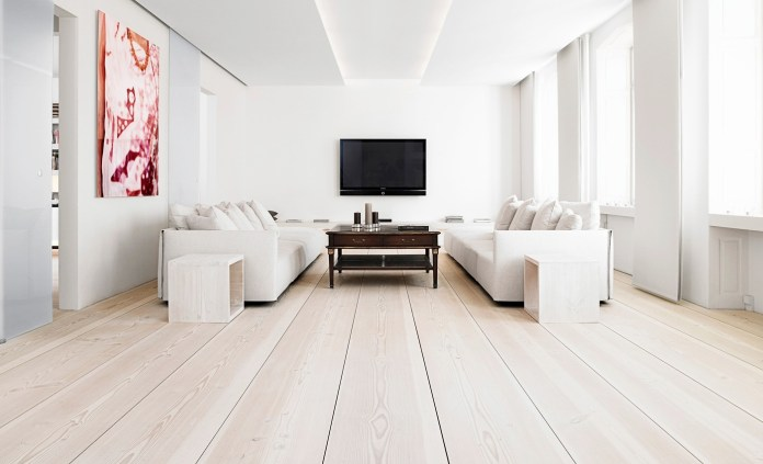 White Interior With Wooden Floor
