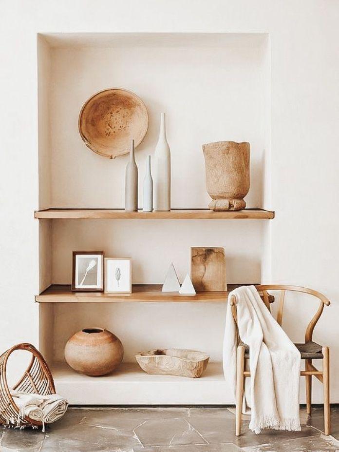 Beige Wall Shelf