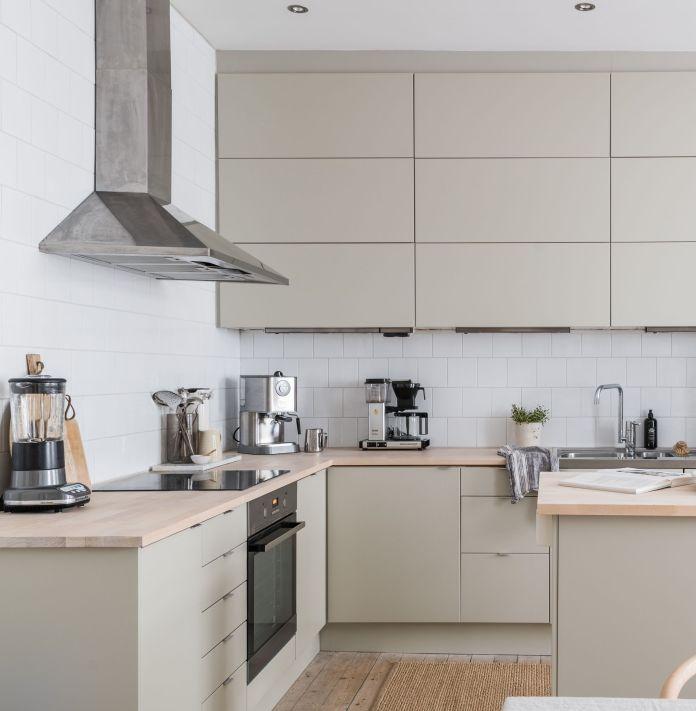Minimalist Beige Kitchen