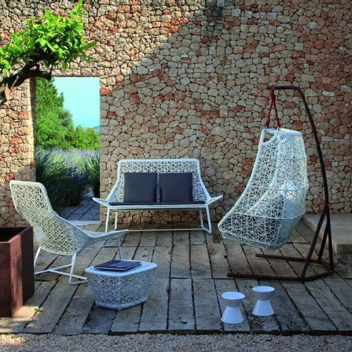 Terrace with Swing Chairs