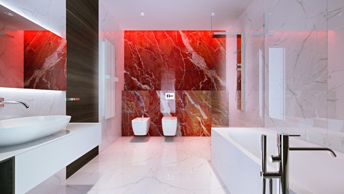 Aesthetic Red Bathroom