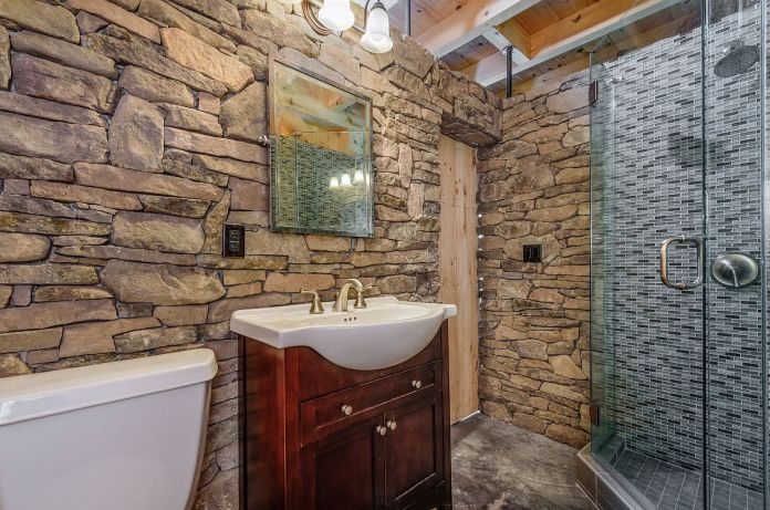 Stone Rustic Bathroom