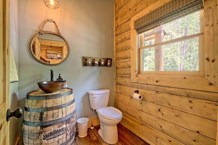 Wooden Rustic Bathroom