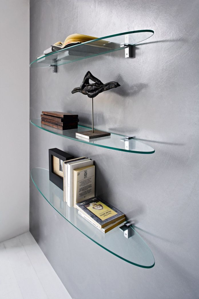 Minimalist Glass Wall Shelf