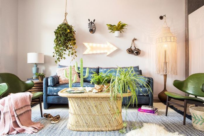 Natural Bohemian Living Room