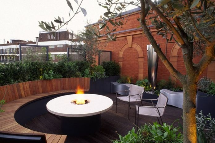 Rooftop Garden with Campfire