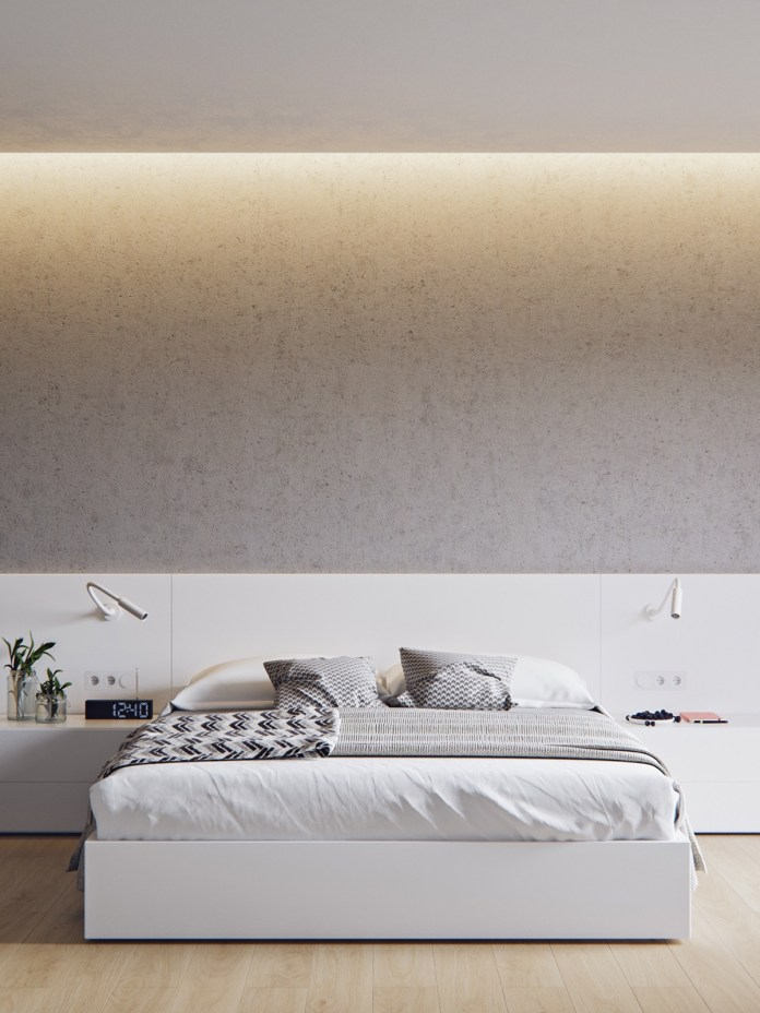 Minimalist Bedroom with Ambient Light