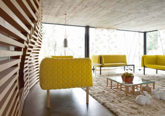 Yellow Sofa in a Contemporary Interior
