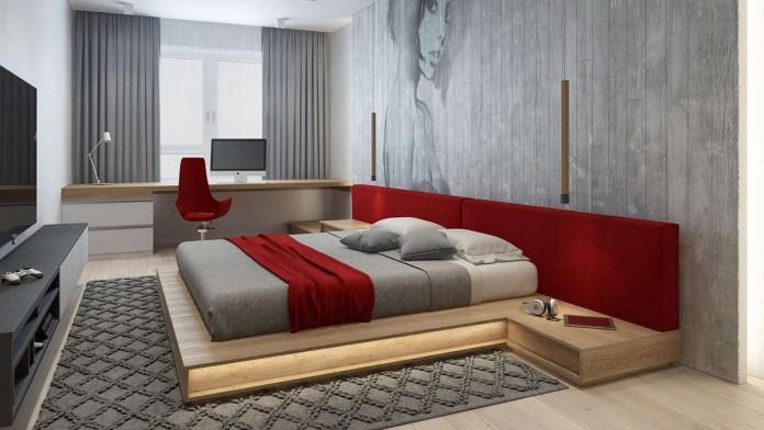 Industrial Red Bedroom
