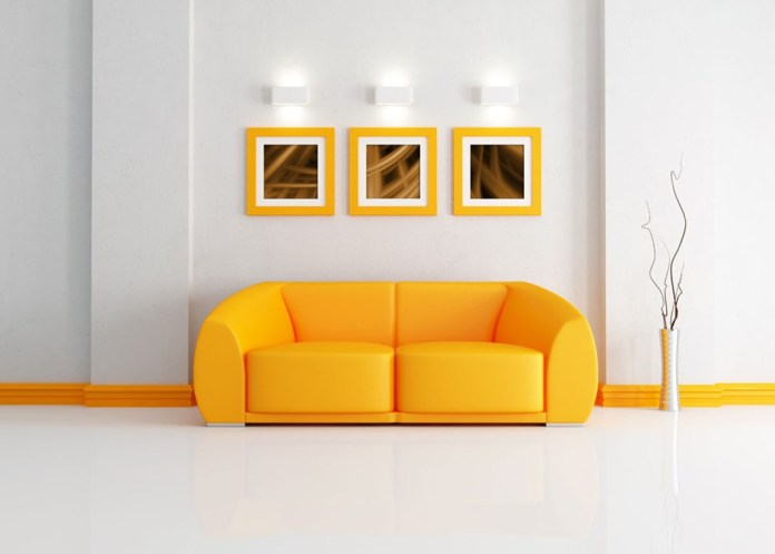 Yellow Sofa in a Modern Interior