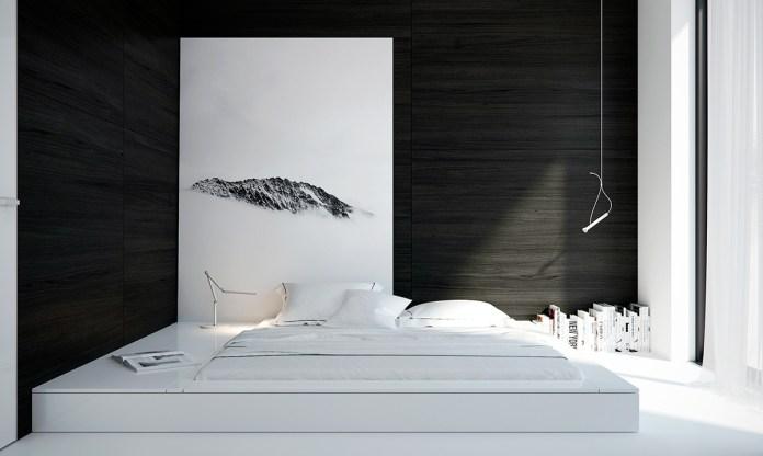 Monochrome Minimalist Bedroom