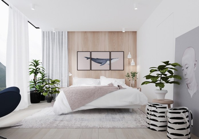Minimalist Bedroom with Tropical Style