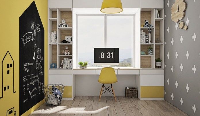 Masculine Style Study Room