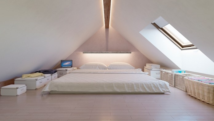 Attic Bedroom with Calming Ambient Light