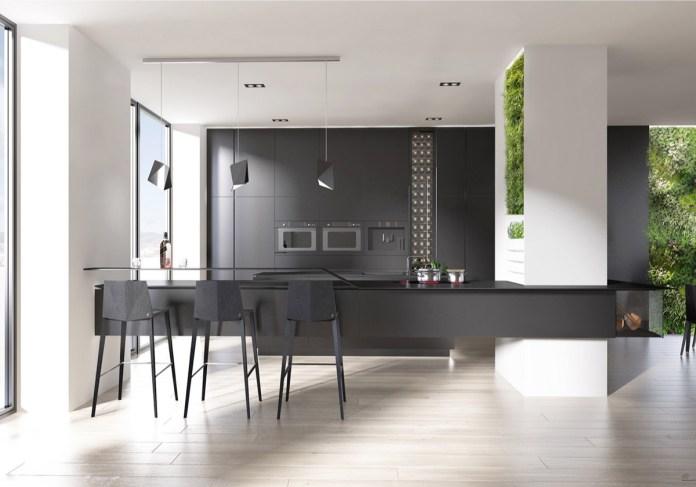 Dark Kitchen with Good Lighting