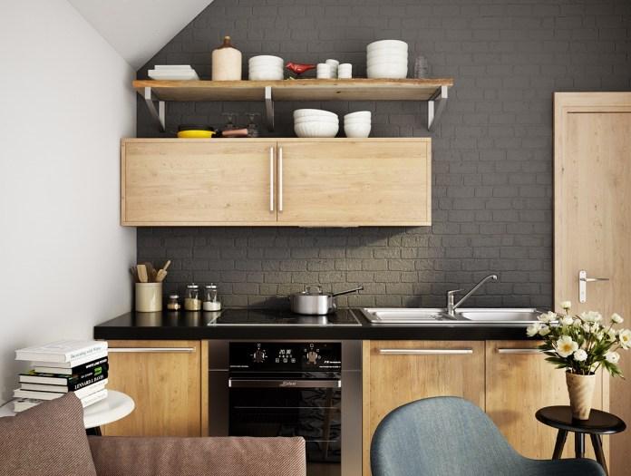 Scandinavian Dark Kitchen
