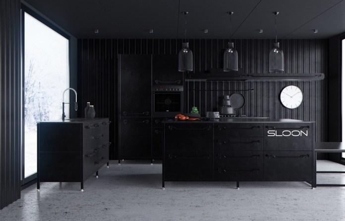 Traditional Dark Kitchen