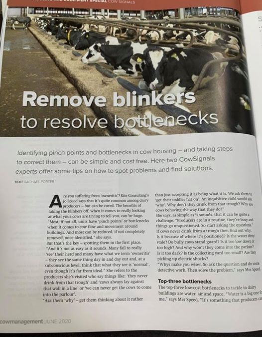 Super article in this month's cow management magazine