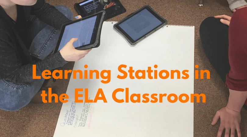 Learning Stations In Secondary Ela Classrooms David Rickert