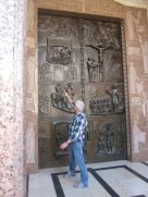 Our tour guide explaining the significance of this door, leading into the site where the Angel is said to have appeared to Mary