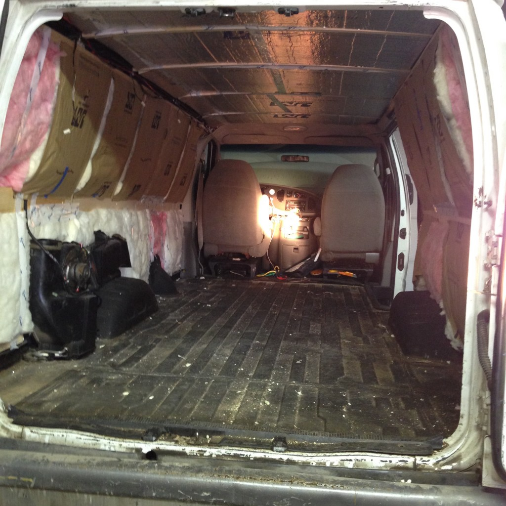 Finished Van Insulation
