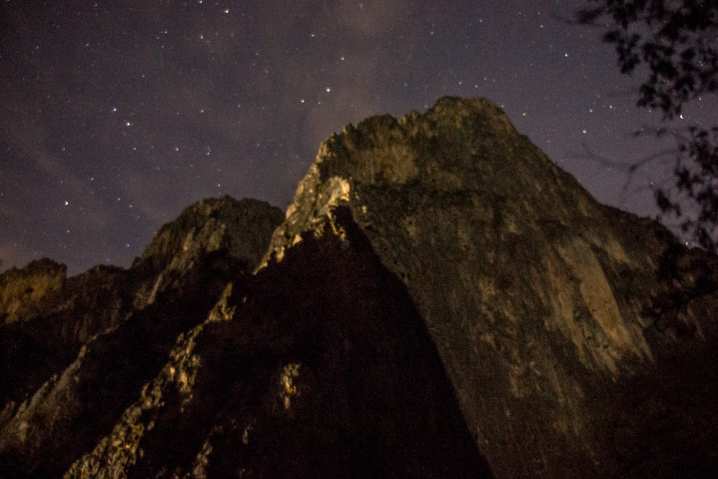 Time Wave Zero in Potrero Chico at night