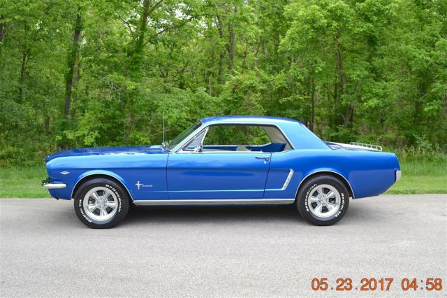 1965 mustang coupe 289 4spd solid fresh restoration beautiful bright blue nice 2 1965 ford mustang 289 engine diagram