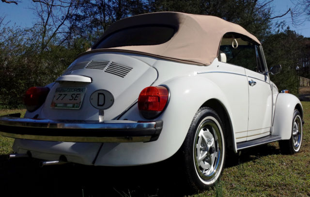 1977 Volkswagen Super Beetle Convertible Champagne Edition